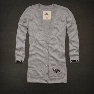gray hollister cardigan