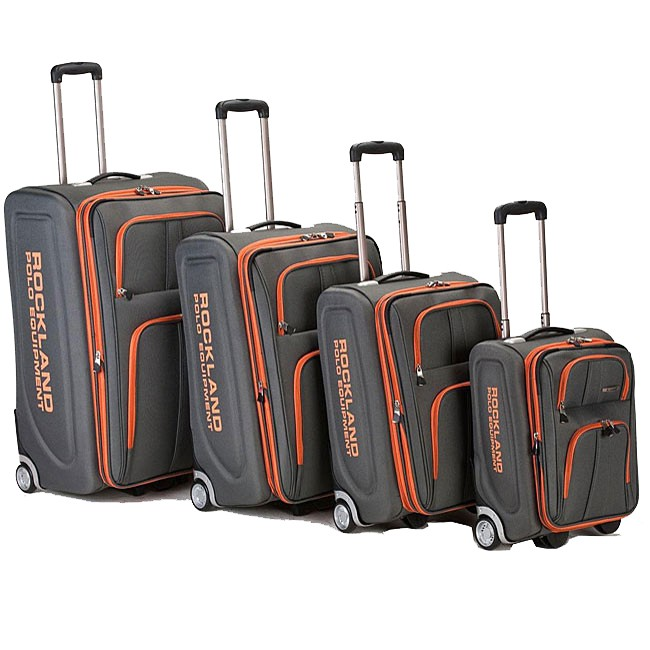 Polo Equipment Olympian 4 piece Expandable Luggage Set   Charcoal