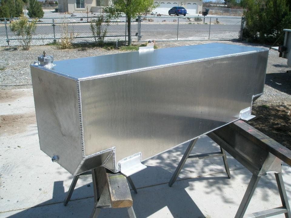 94 Gallon Custom Aluminum Auxiliary Fuel Transfer Tank Diesel Veg Oil