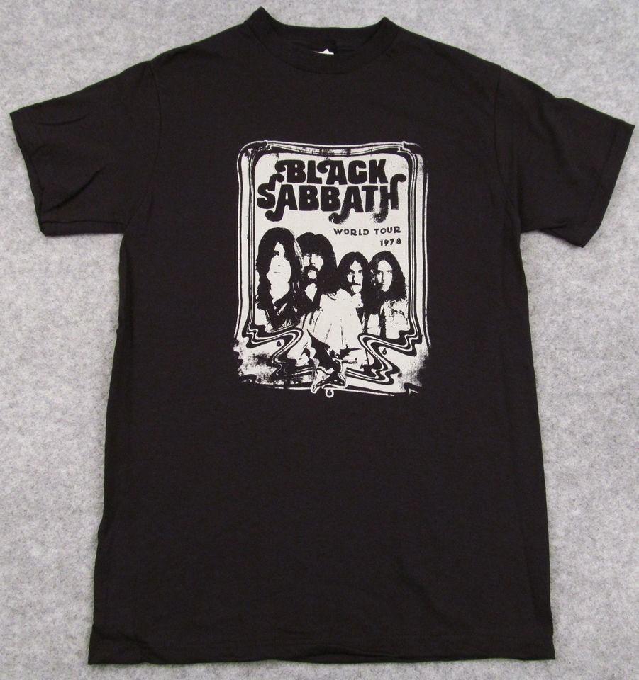 BLACK SABBATH World Tour 1978 T shirt Retro Ozzy Osbourne Black Adult