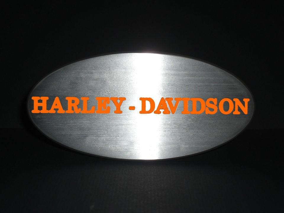 Harley Davidson trailer hitch cover for 2 receiver Black & Orange