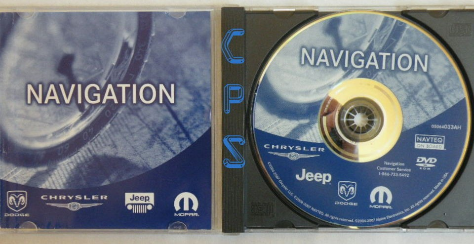 Chrysler Dodge Jeep Moper Navigation Update DVD AH 2010 data map