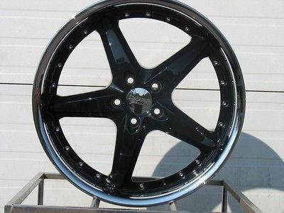 18 STAGGERED BLACK/STAINLESS RUFF RACING 280 WHEELS RIMS 2005 2010