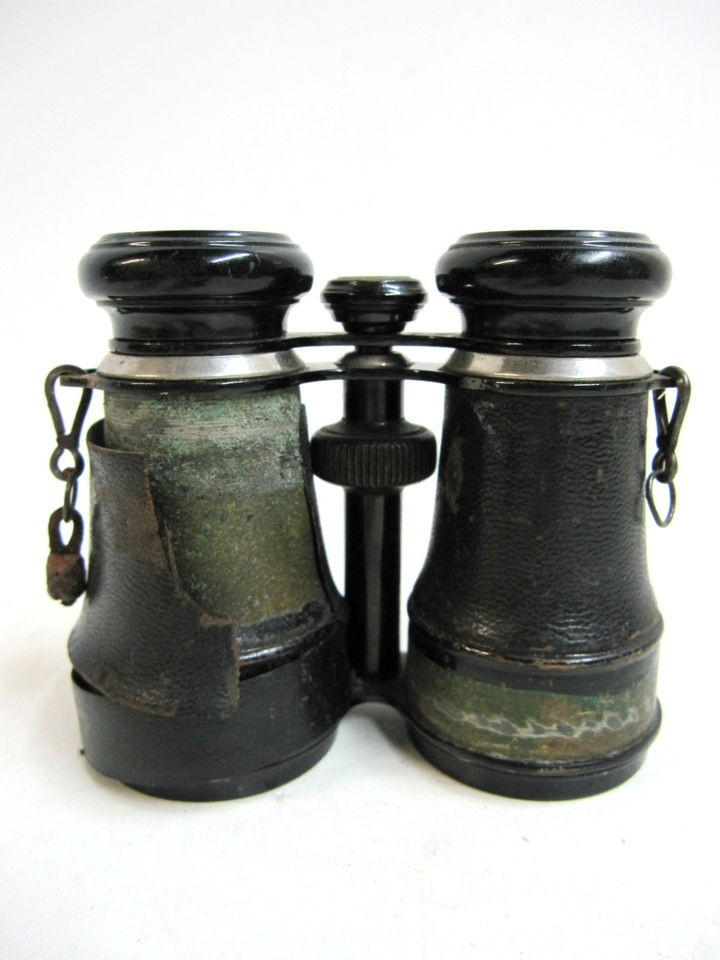 Vintage Champoux Paris Binoculars w/ Compass 8 Lenses France c 1930s