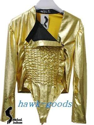 MICHAEL JACKSON Dangerous Gold Tour Leotard WITH FREE ARMBRACE MJ