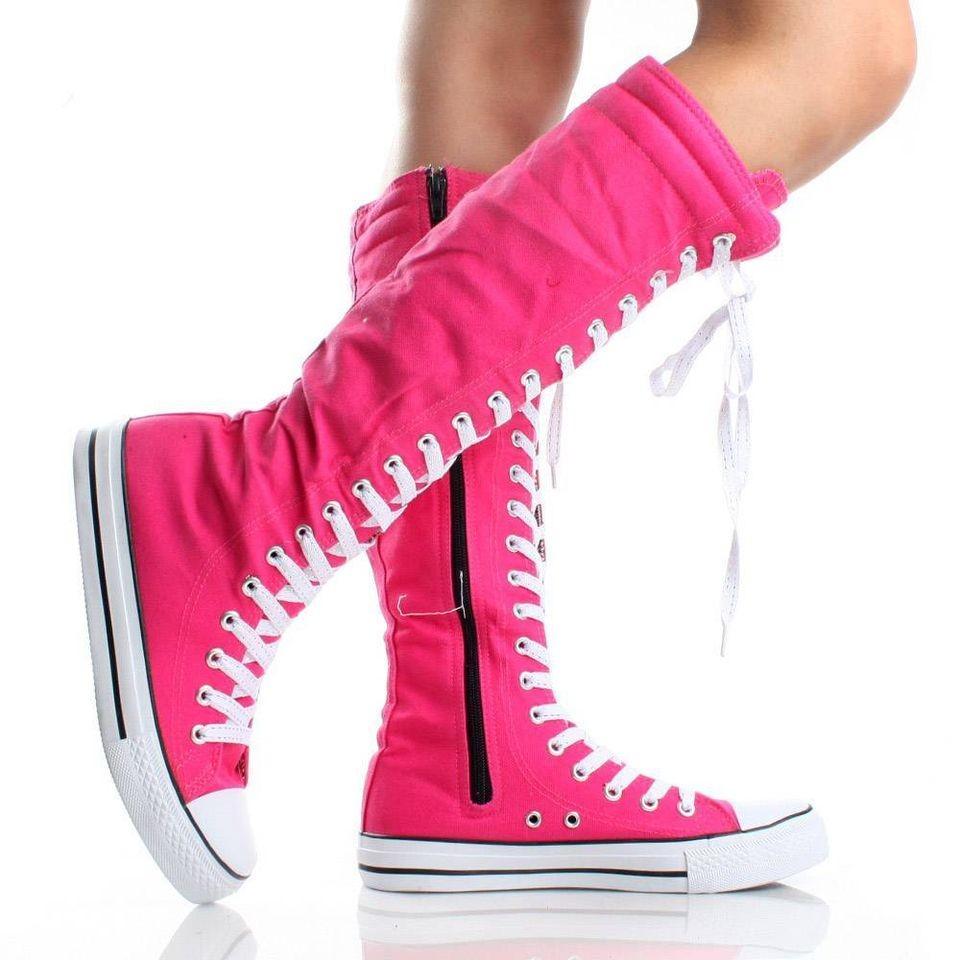 girls knee high boots with zipper tennis shoe size 10 11 12