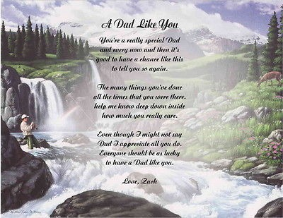 DAD POEM PERSONALIZED GIFT BIRTHDAY, CHRISTMAS, FATHERS DAY DEER