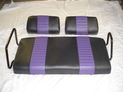 YAMAHA Golf Cart Seat Covers   black with havasu pleats