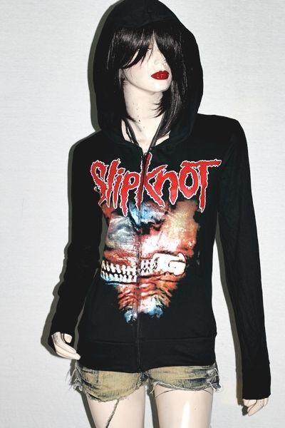 Slipknot Heavy Metal Rock DIY Slim Fit Hoodie Jacket Top Shirt