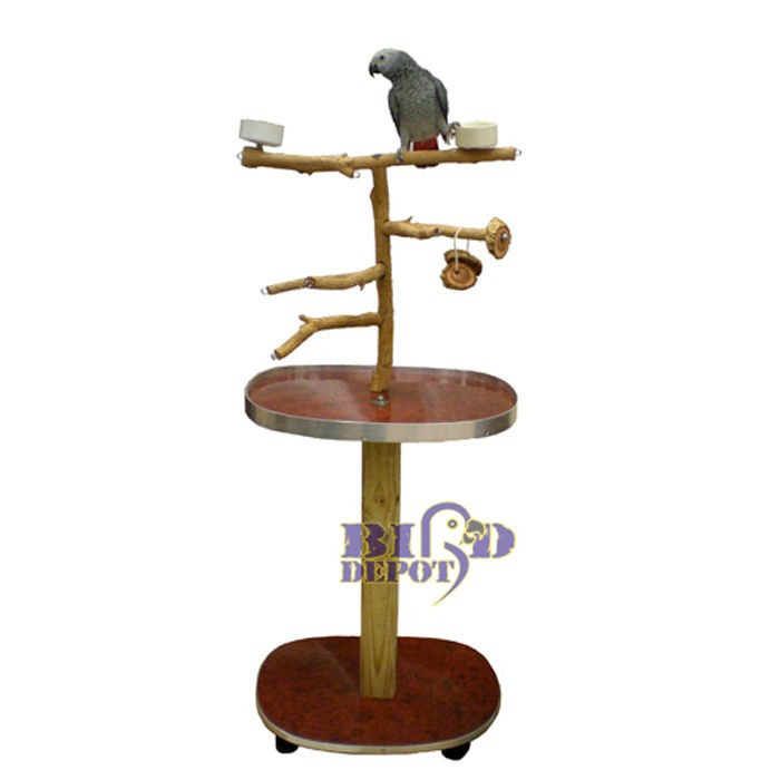 Waynes Bottlebrush Parrot Play Gym Floor Stand Perch ...
