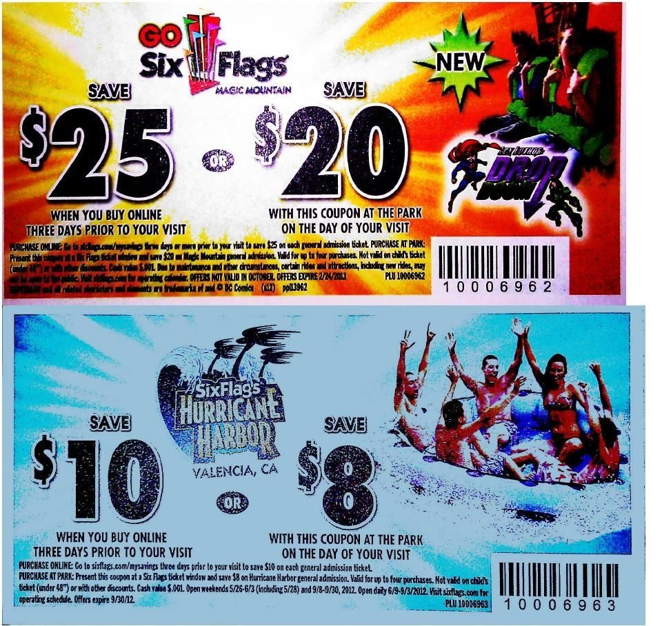 Six flags discount coupons 2018