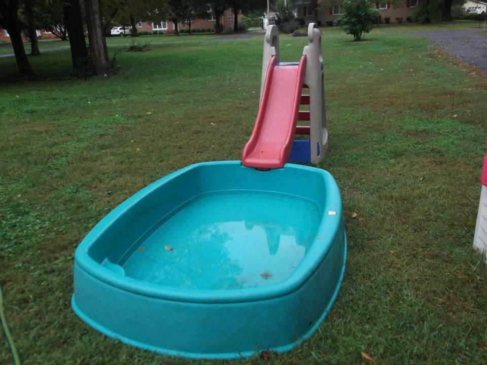 rare euc step 2 slide splash pool combo toddler big splash center