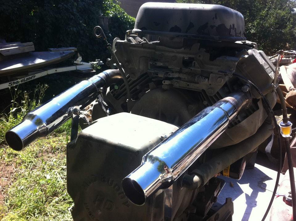Custom Exhaust for MudBuddy 35 hp Vanguard Briggs Duck Boat Hunting