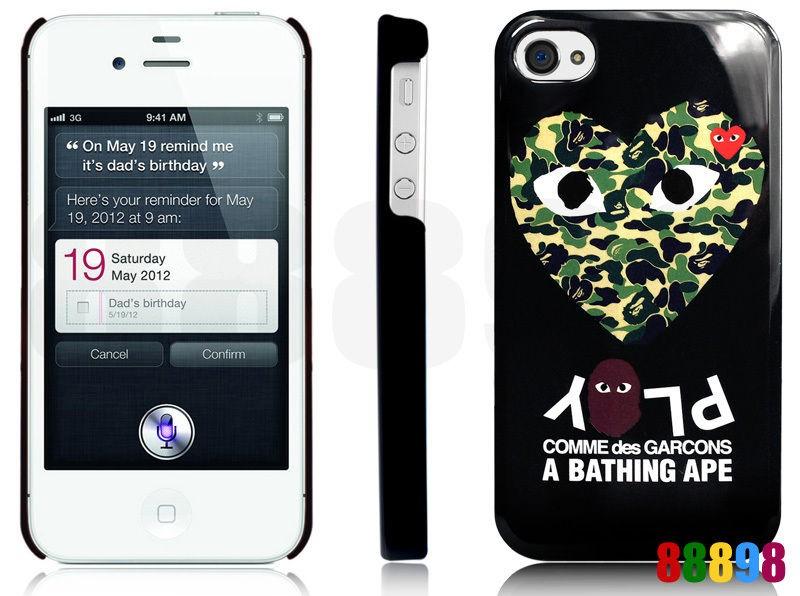 Ape BAPE X COMME des GARCONS PLAY CDG iPhone 4S 4 Hard Case ★【A