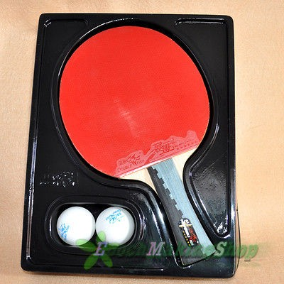 double fish 6a c Ping Pong Paddle Table Tennis Racket Long