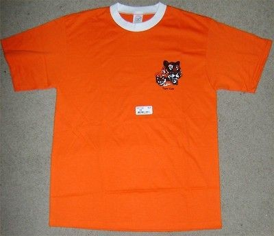 Adult Leader Tiger Cub T Shirt Boy Scout New Orange Short sleeve