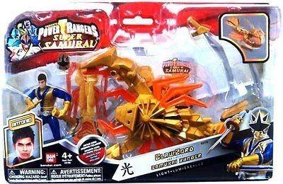 Power Rangers Samurai Clawzord Blue & Gold Ranger Light Bandai Claw