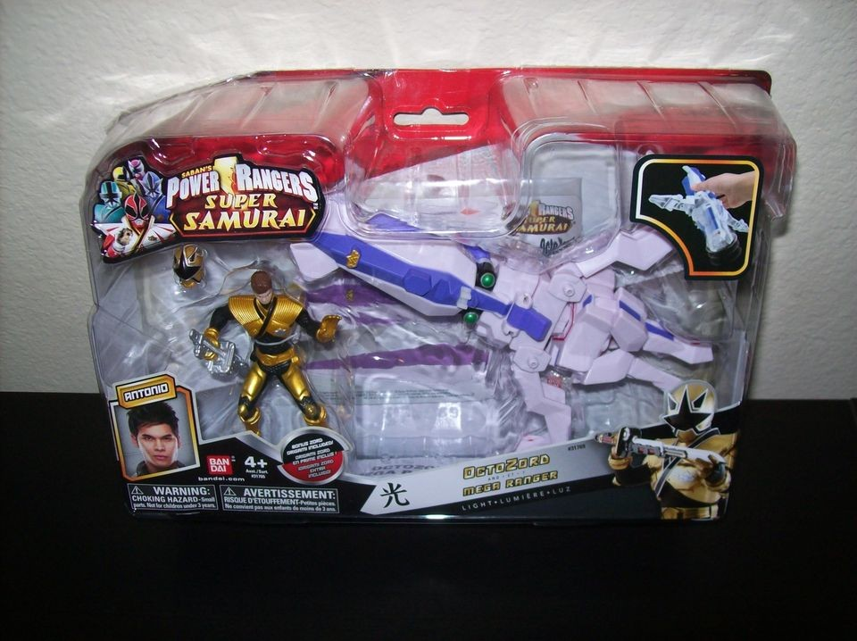 Power Rangers Samurai Octo Zord & Mega Ranger Light New Zord Builder