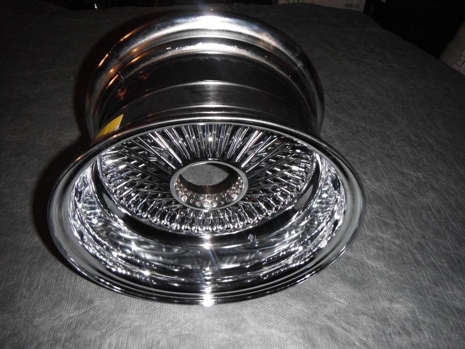 100 spoke 13/7 reverse dayton chrome wire wheel knock off rim