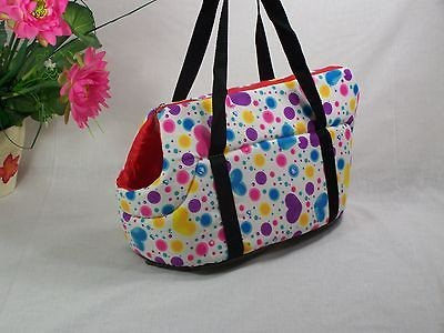 Beauty Heart  Dog Cat Pet Travel Carrier Tote Bag /13 Purse Great