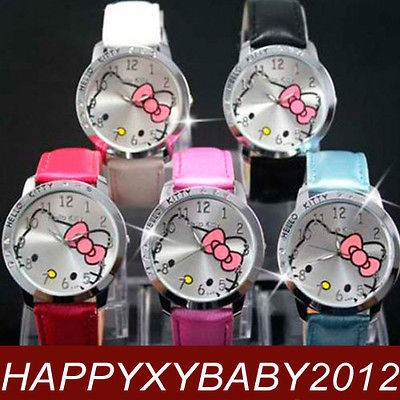 Wholesale 5pcs Hello Kitty Crystal Wrist Watch Clock Lot of gift