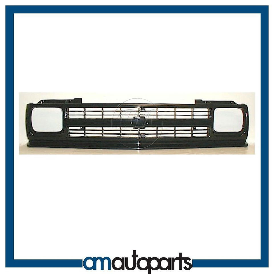 91 94 Chevy S10 Blazer Pickup Truck 7 Bar Gloss Black Front End Grille