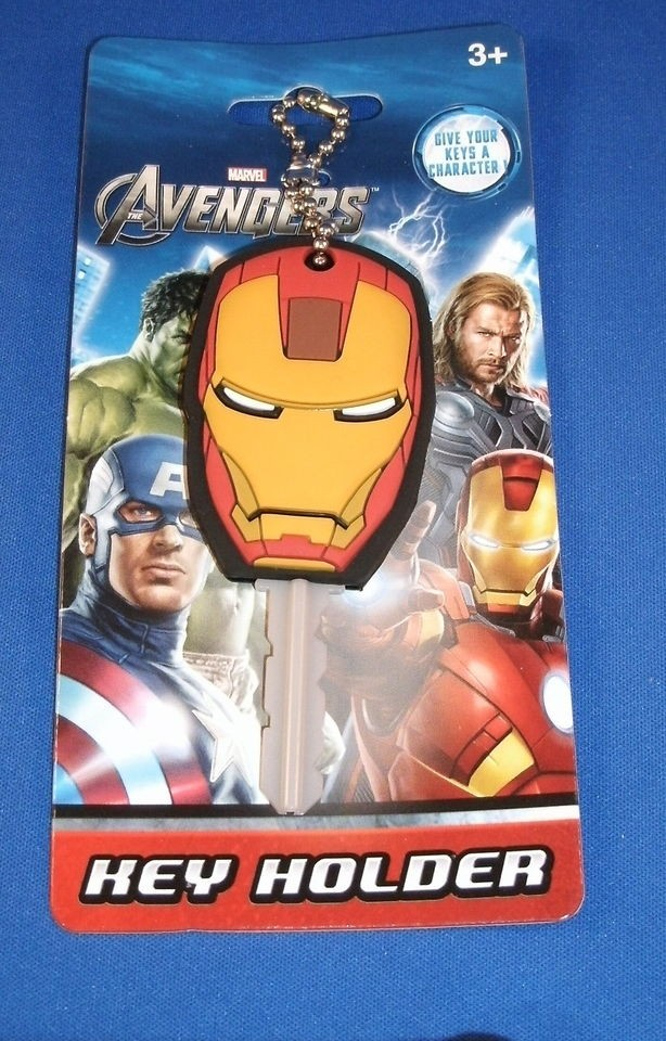 Marvel Avengers The Invincible Iron Man Helmet Key Cap Cover Chain MG