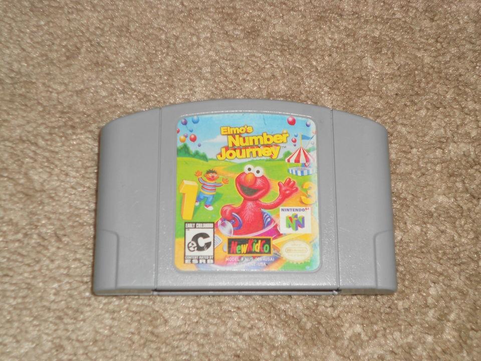 Number Journey TESTED SESAME STREET BERT ERNIE (Nintendo 64, 1999