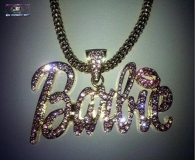 Black Friday Pre Sale Nicki Minaj Hip Hop BARBIE Iced Out Necklace