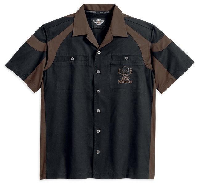 Harley Davidson Mens Short Sleeve Colorblocked Garage Shirt 96752 13vm