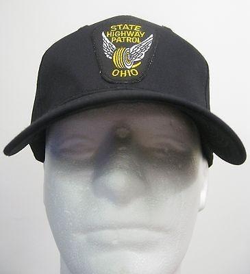 Black Ohio Sae Highway Parol Police Pach BALL CAP/ HA one size