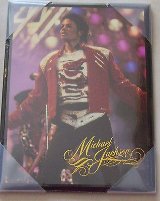 Michael Jackson Red Jacket King of Pop Wall Art Picture 6.5 x 8.5