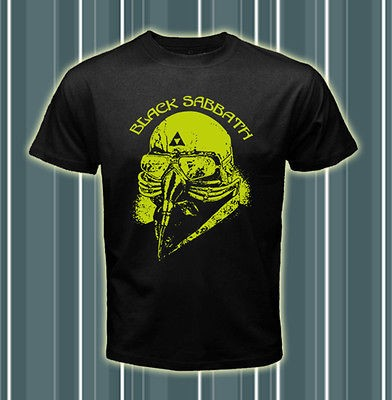 Black Sabbath Rock Band US Tour 78 Logos ST1 Men Black T shirt tee