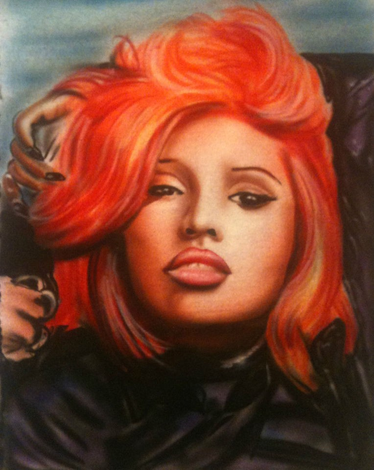 AIRBRUSH COOL NEW NICKI MINAJ PORTRAIT AIRBRUSHED T SHIRT rhianna