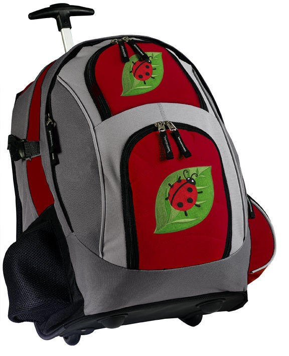 Ladybugs Rolling Backpack BEST WHEELED BACKPACKS Ladybug Gifts Carry