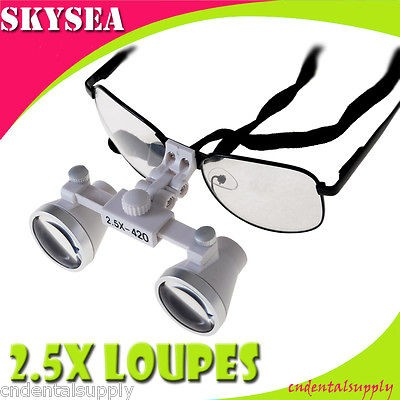 5X Loupe binocular magnifier lens glasses Surgical Medical Use a