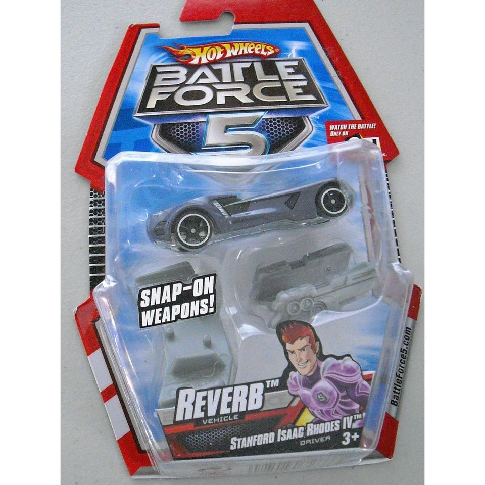 Hot Wheels Battle Force 5 Reverb Vehicle W Snap On Weapons