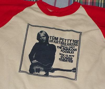 RaRe *1979 TOM PETTY* vtg rock concert tour 3/4 jersey t shirt (XL