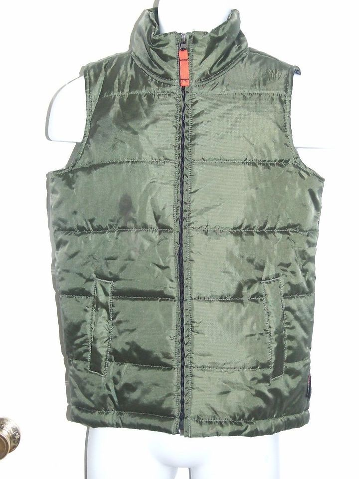 Boys Weatherproof Garment Co. Authentic Outerwear Green Vest Size M
