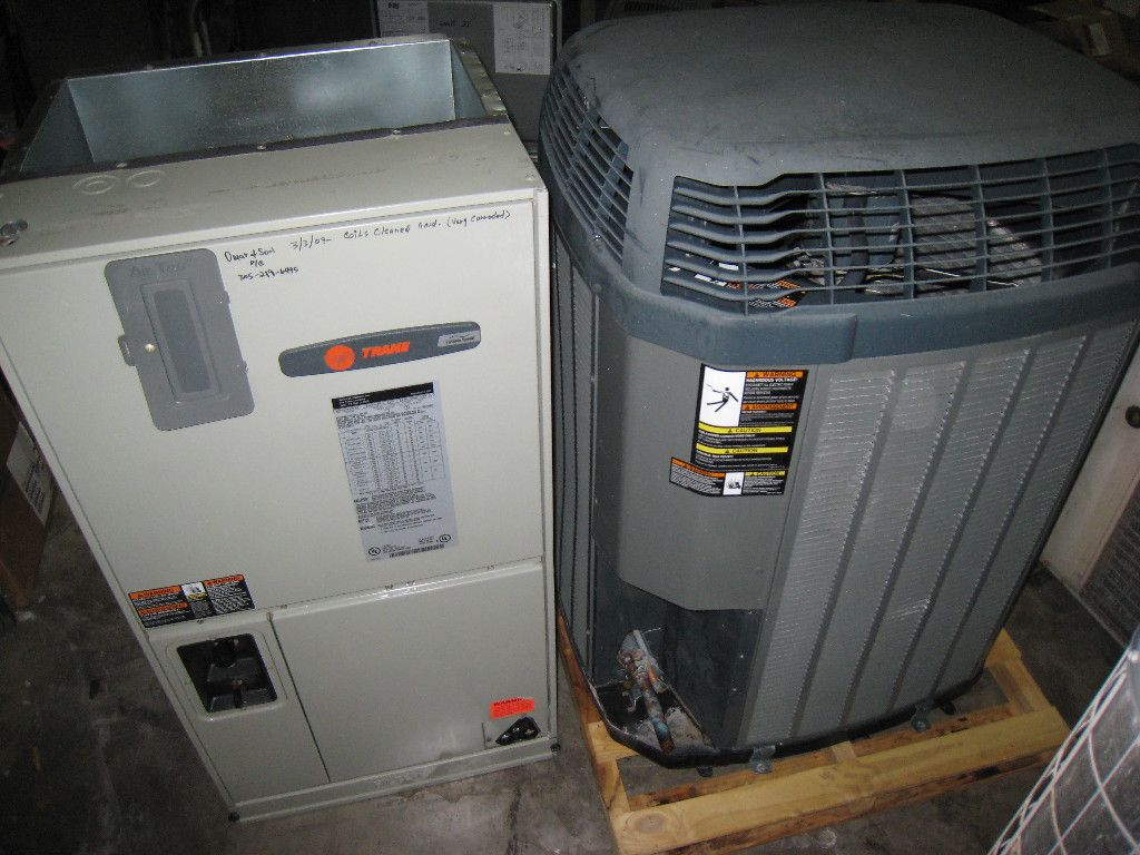 Trane 3 Ton 15 Seer Air Handler And Condenser Units Central Ac Geothermal Heat Pump Wiring Diagram