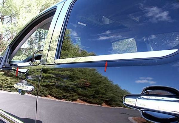 07 13 Chevy Avalanche Window Sills, SS Truck SUV Chrome Trim, 3M New