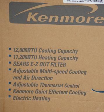 KENMORE 75124 12,000 BTU Heat/ Cool Air Conditioner NIB