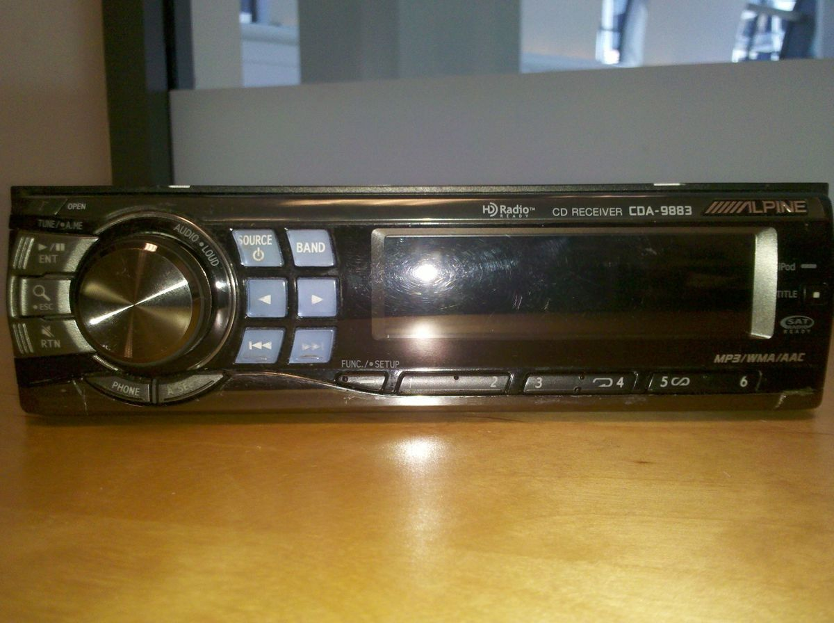 Alpine Car Stereo Cda 9883 The