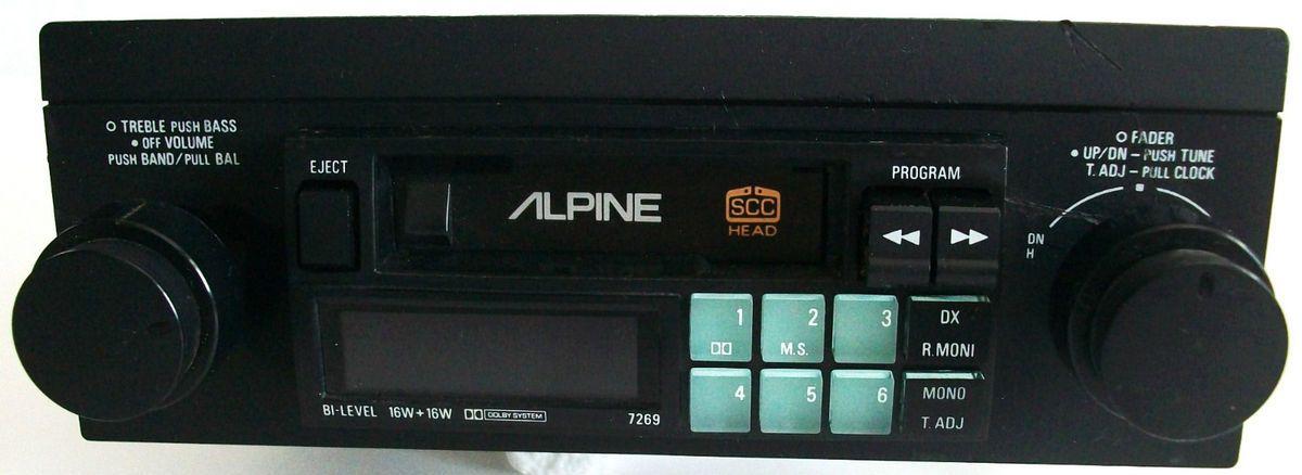 VINTAGE ALPINE 7269 CAR STEREO TUNER CASSETTE TAPE DECK