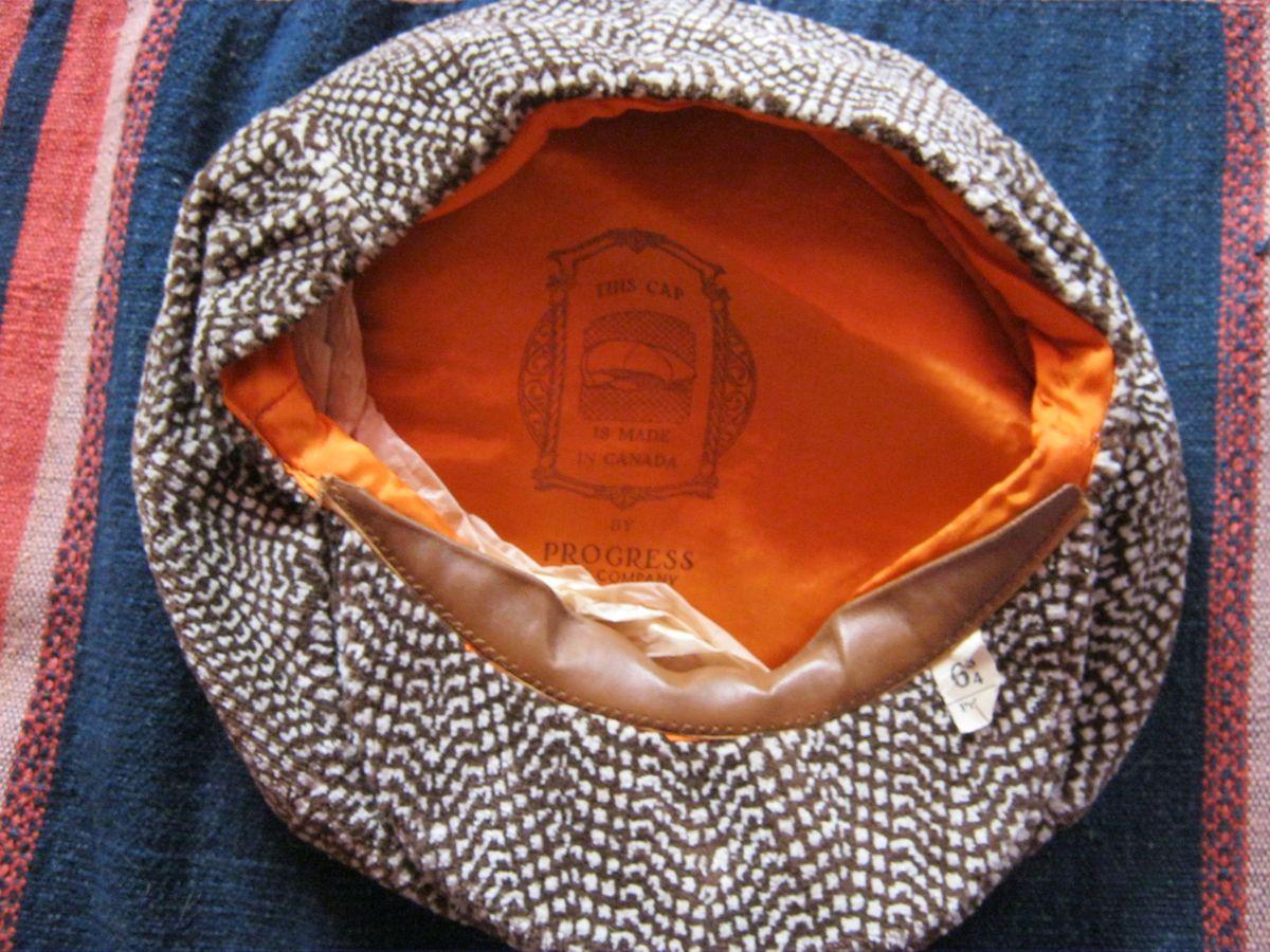 Vintage 1920s 1930s Depression Era Paper Boy Cap Hat Apple Jack