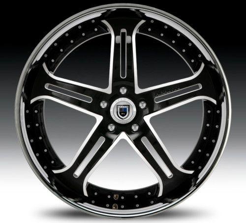 24 asanti AF167 Black Chrome Wheels Rims 3 Piece