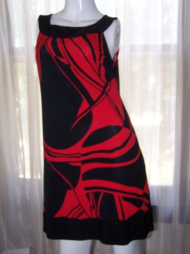 Darlin Juniors Black Red Printed Formal Dress 5 6