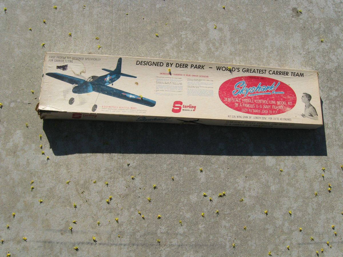 Skyshark U Control Balsa Wood Model Airplane Kit Model