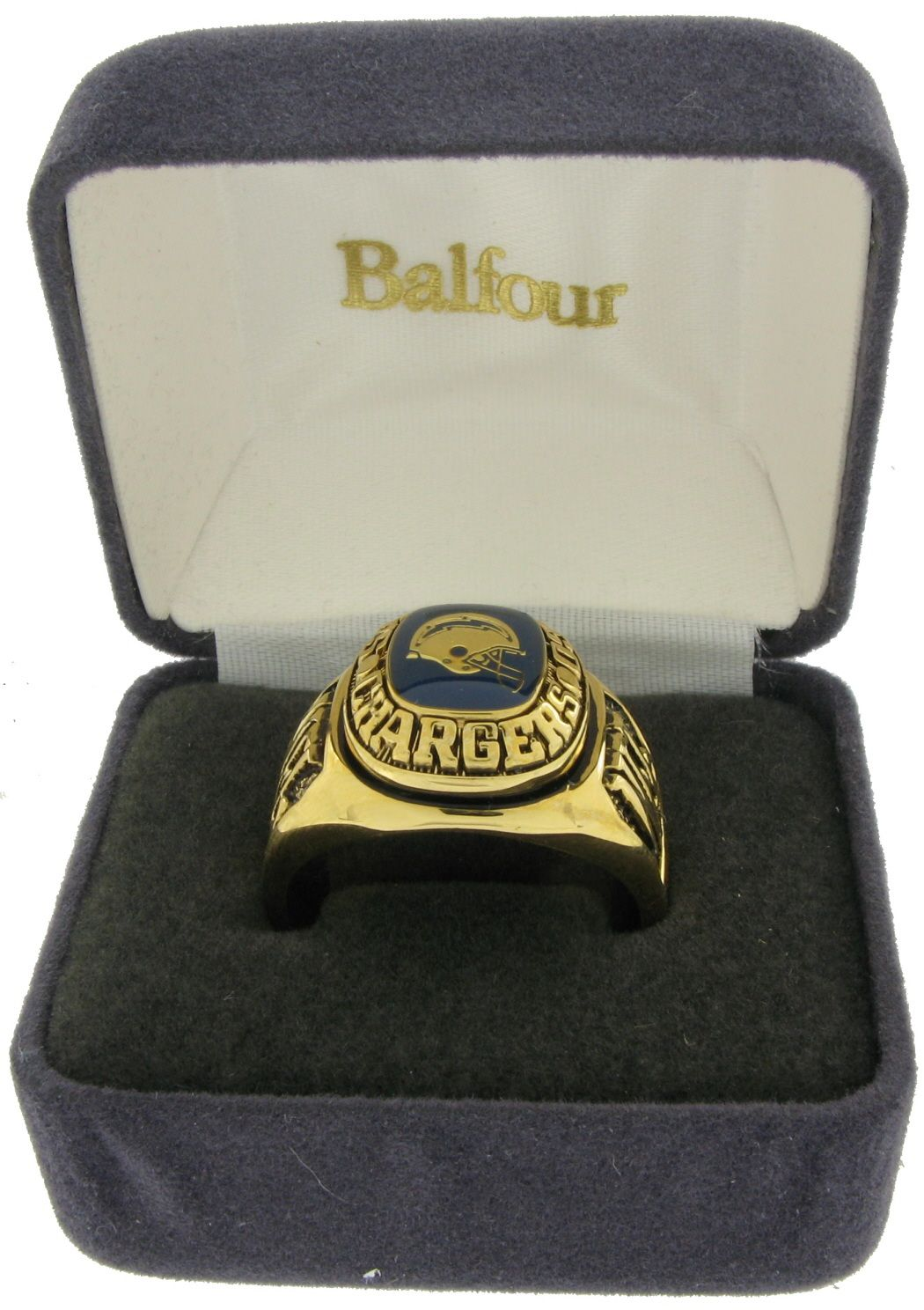 Balfour Ring Football NFL Team San Diego Chargers Sz 9