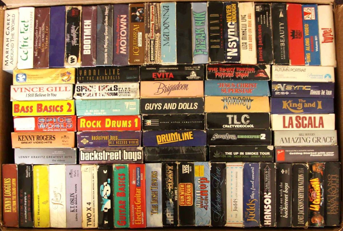 VHS Huge Lot of 72 Music Movie Video Tapes Rap Hip Hop Boy Band Guitar